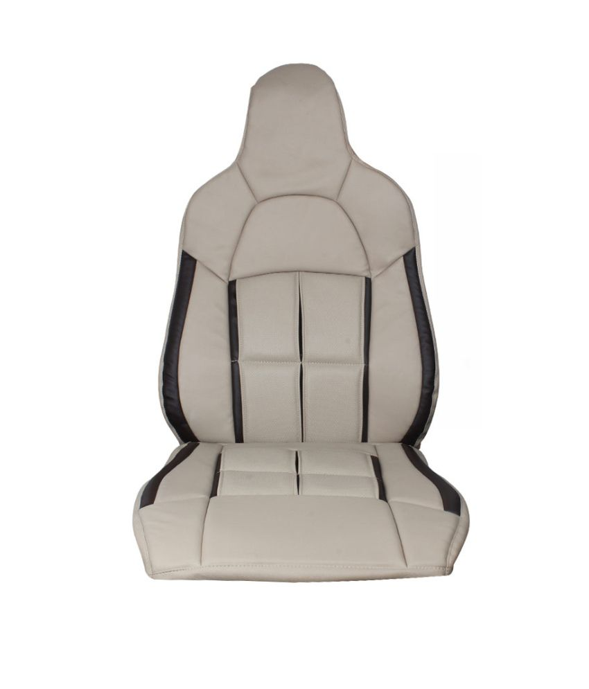 speedwav beige box leatherette car seat covers for duster buy speedwav beige box leatherette. Black Bedroom Furniture Sets. Home Design Ideas