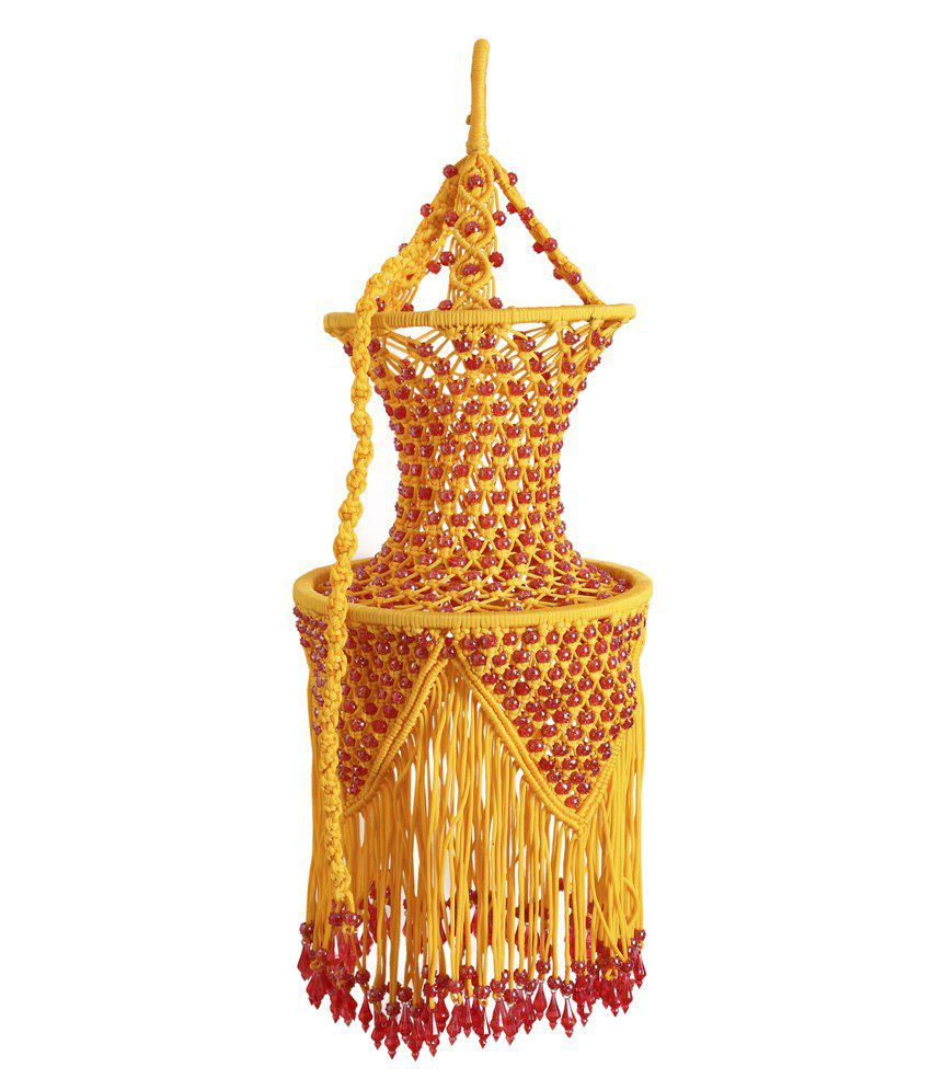 Maharania home decorative yellow polypropylene jhumar buy for Household decorative items