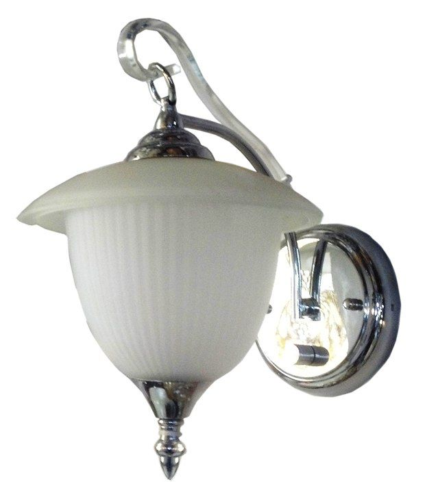 Ihearthomez White Glass Round Wall Light with Antique Design - 27 Watts: Buy Ihearthomez White ...