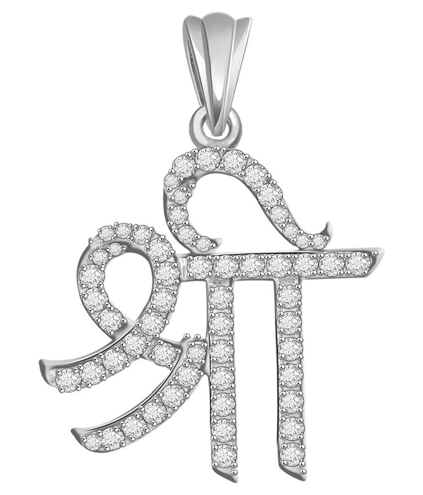 Vijisan 92.5 Sterling Silver Shree Pendant Without Chain