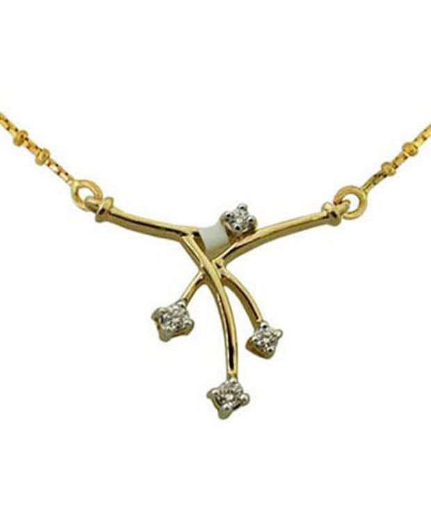 Ag Real Diamond Amazing Dangling Mangalsutra