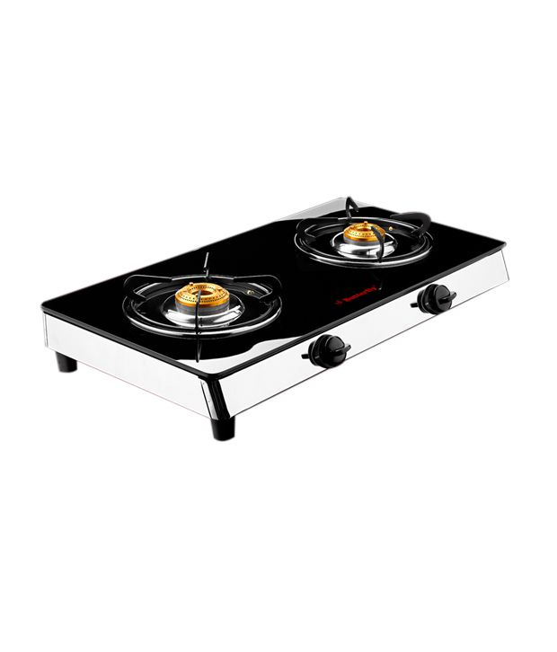 Butterfly 2 Burner-Reflection Auto Ignition Glass Cooktop