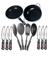 Teleskyshop 12 PCs Cookware Set