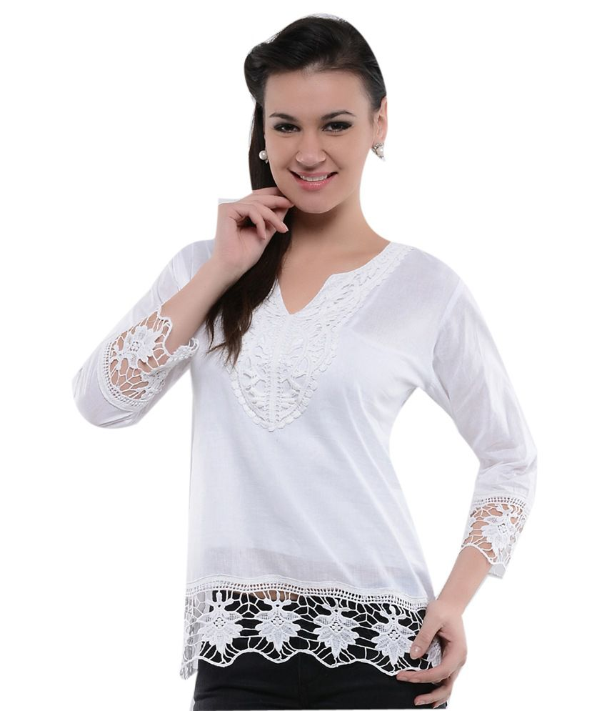 Fashion Unique Fashion White Design Top