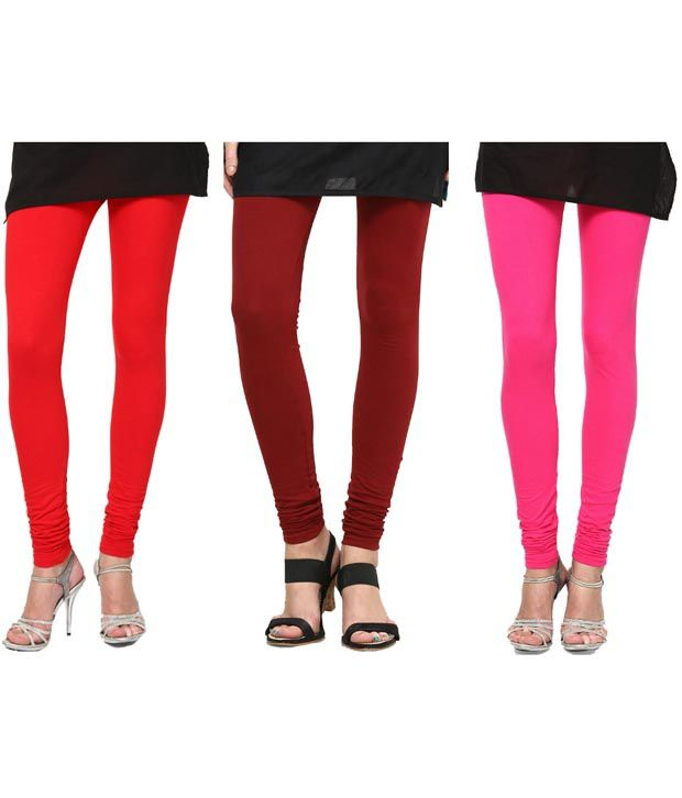Kamaira Premium Leggings Combo Red Maroon Hot Pink