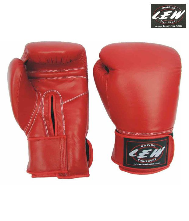 Lew Synthetic Leather Boxing Gloves