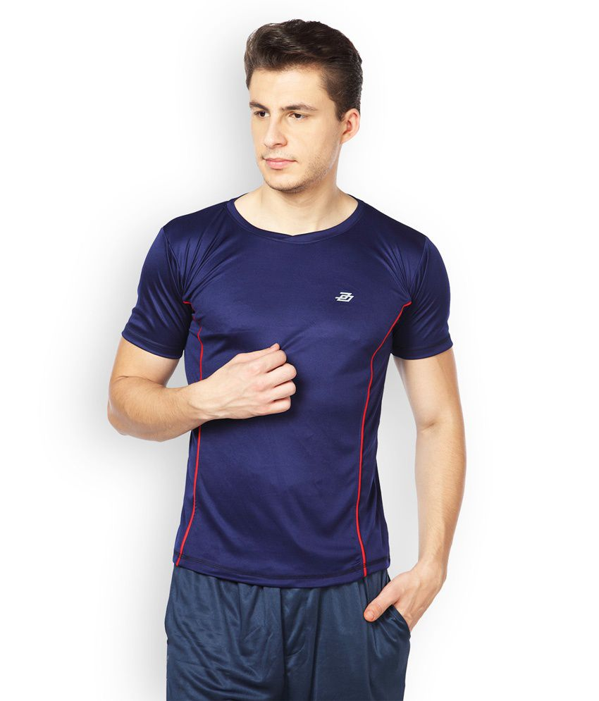 Difference of Opinion Blue Polyester Fitness T - Shirt