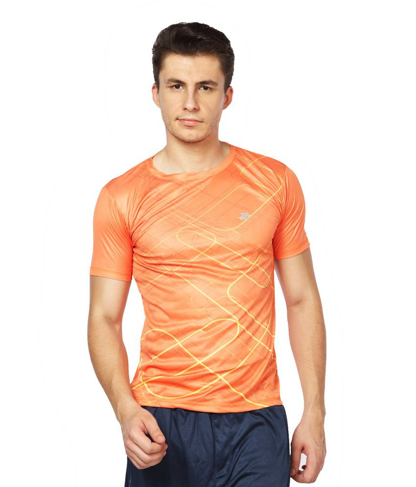 Difference of Opinion Orange Polyester Fitness T - Shirt