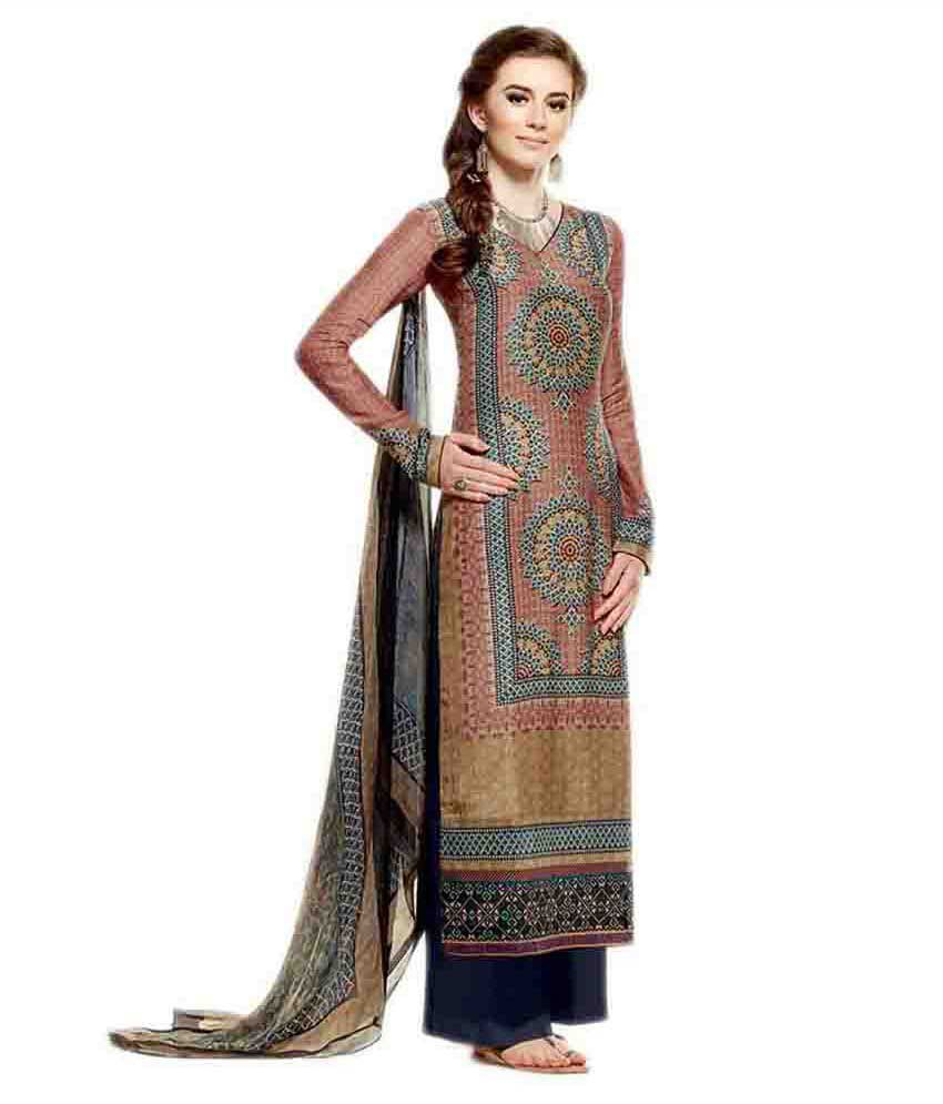 EthnicBasket Multi Cotton Unstitched Dress Material