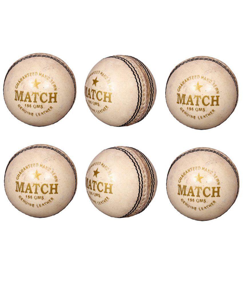 Priya Sports White Cricket Ball- Pack Of 6