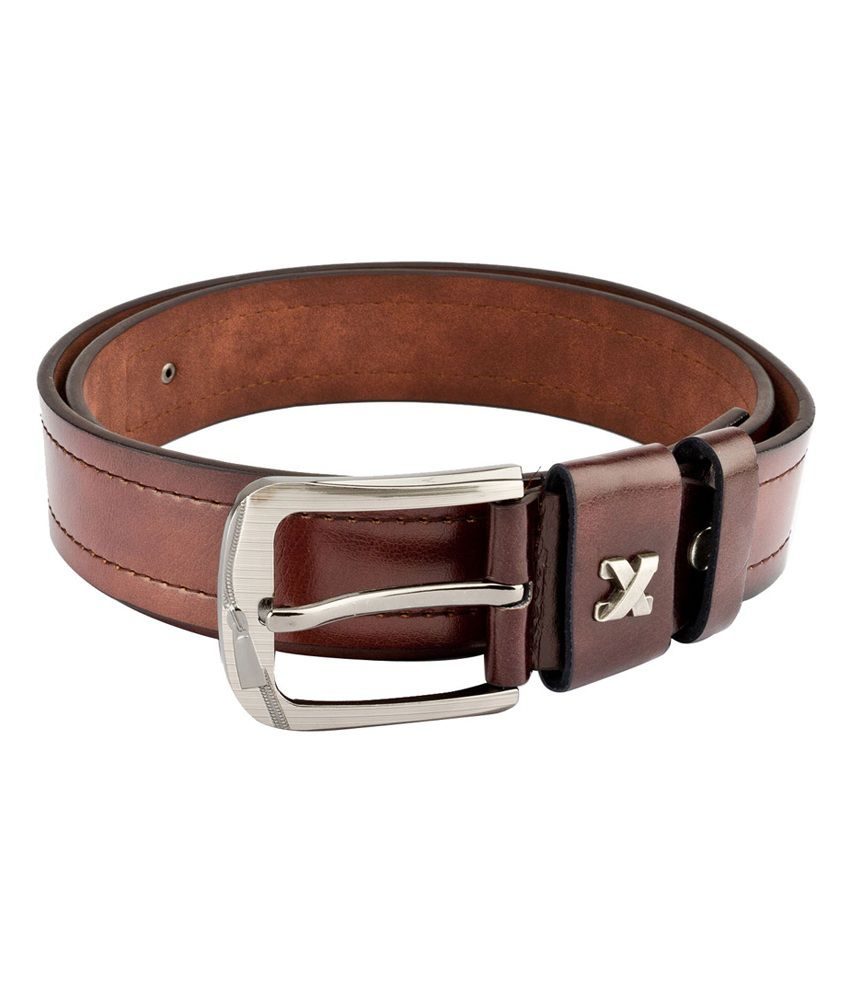 Swiss Design Men Casual Brown Leatherite Belt - SDBLT-123-BR