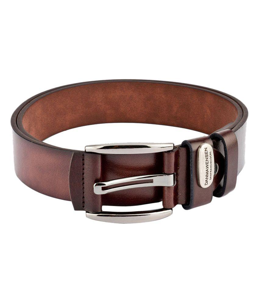 Swiss Design Men Casual Brown Leatherite Belt - SDBLT-115-BR