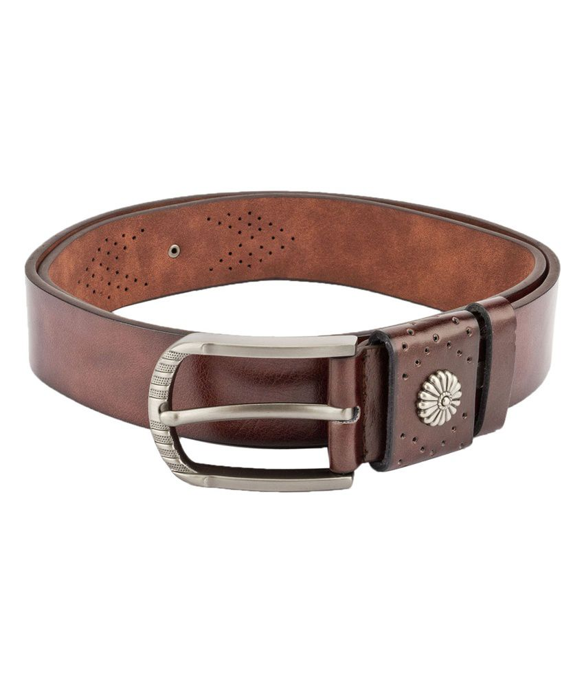 Swiss Design Men Casual Brown Leatherite Belt - SDBLT-01-BR