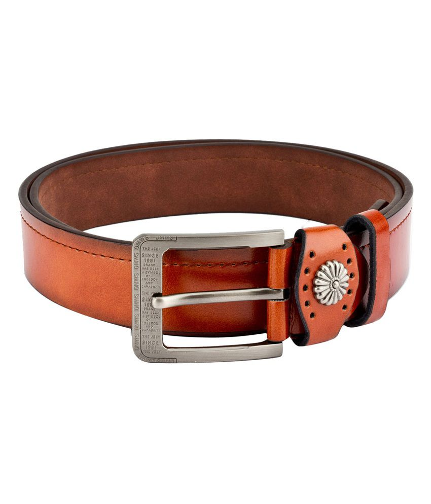 Swiss Design Men Casual Tan Leatherite Belt - SDBLT-118-TN