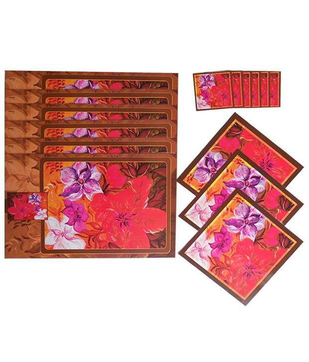 Itrend India Reversible Table Mat Set Of 15 Pieces
