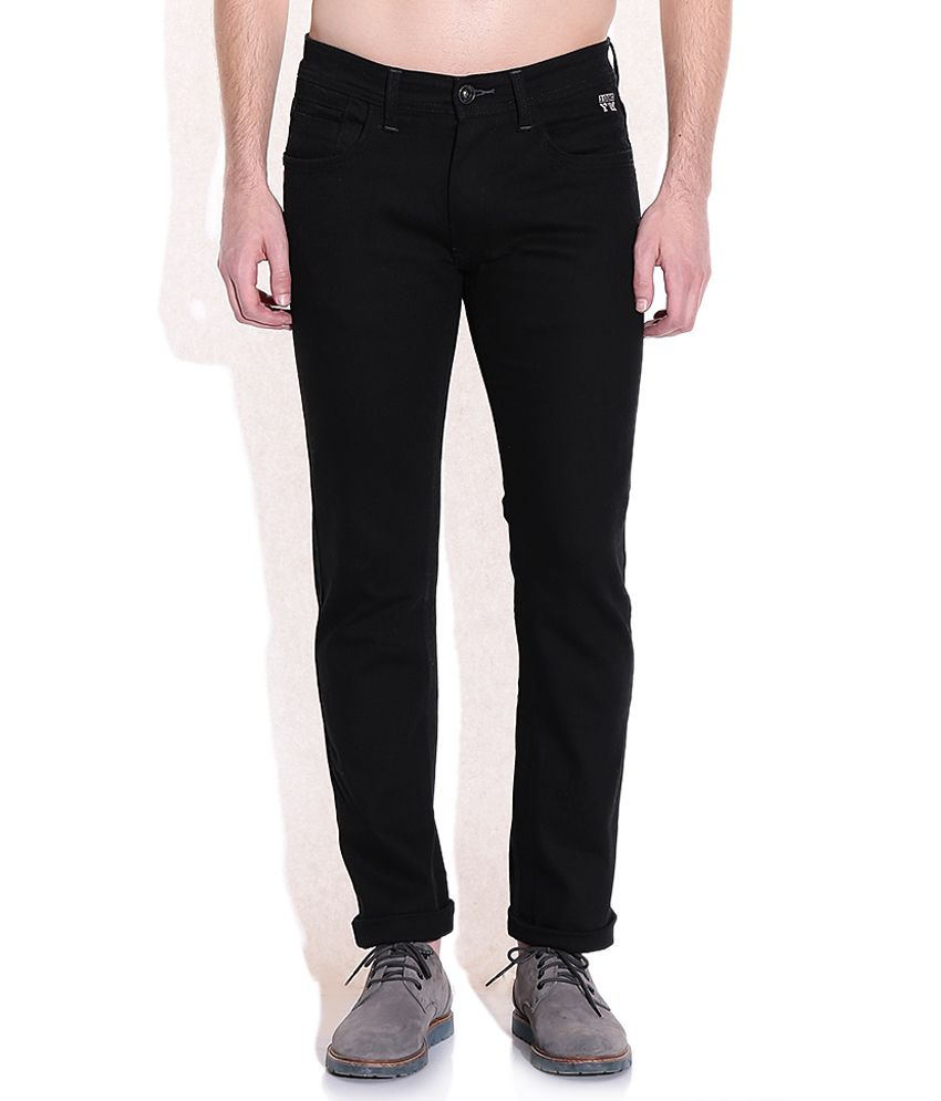 Flying Machine Black Slim Fit Jeans