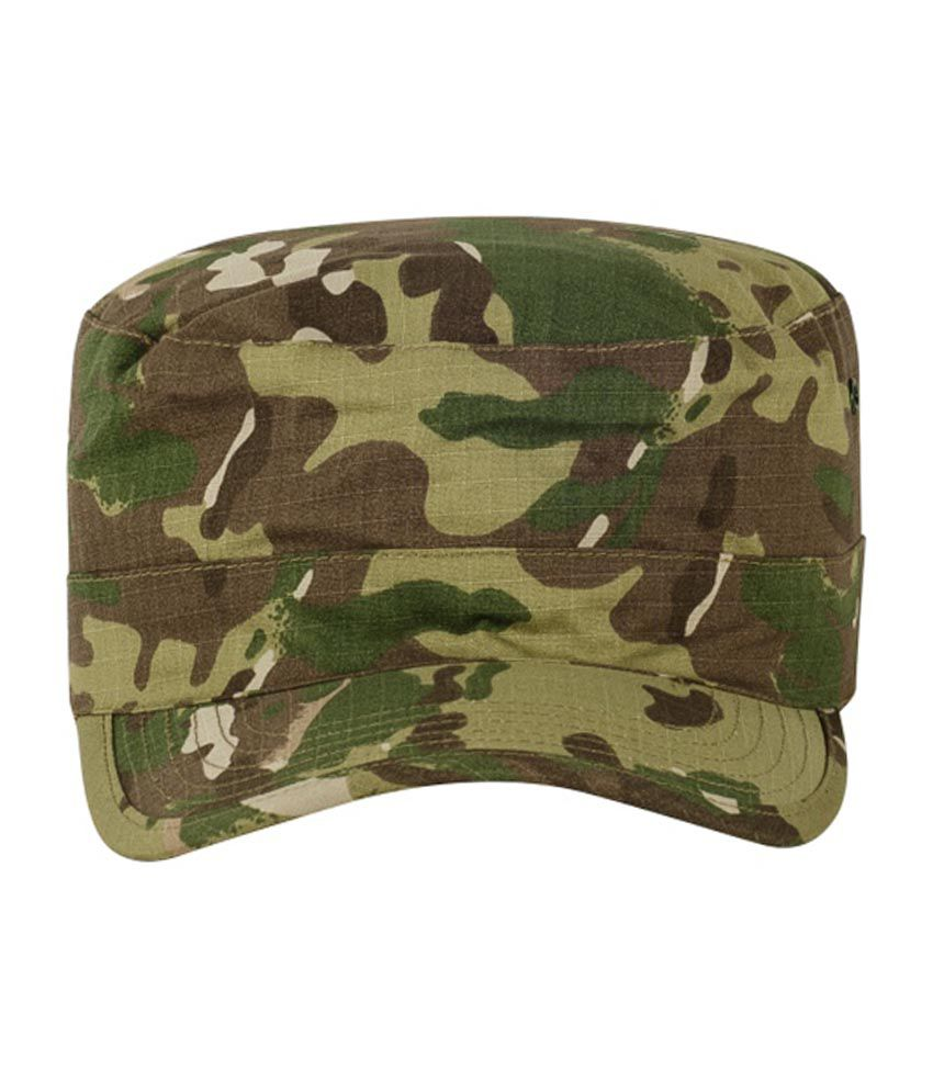 Olive Planet Cotton Military Cap For Men