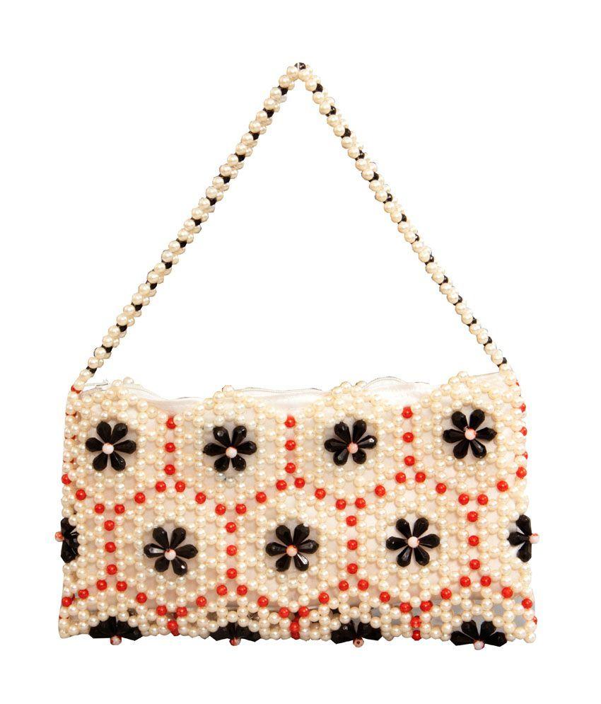 Stichup Fl Moti Crystal Handbag