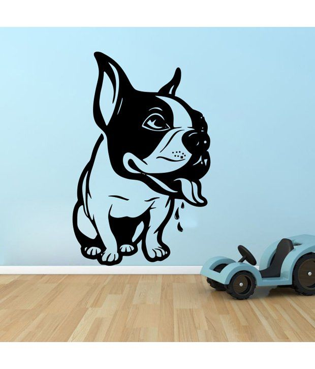 Snapdeal Wall Decor Items : Decor kafe black dog wall sticker buy