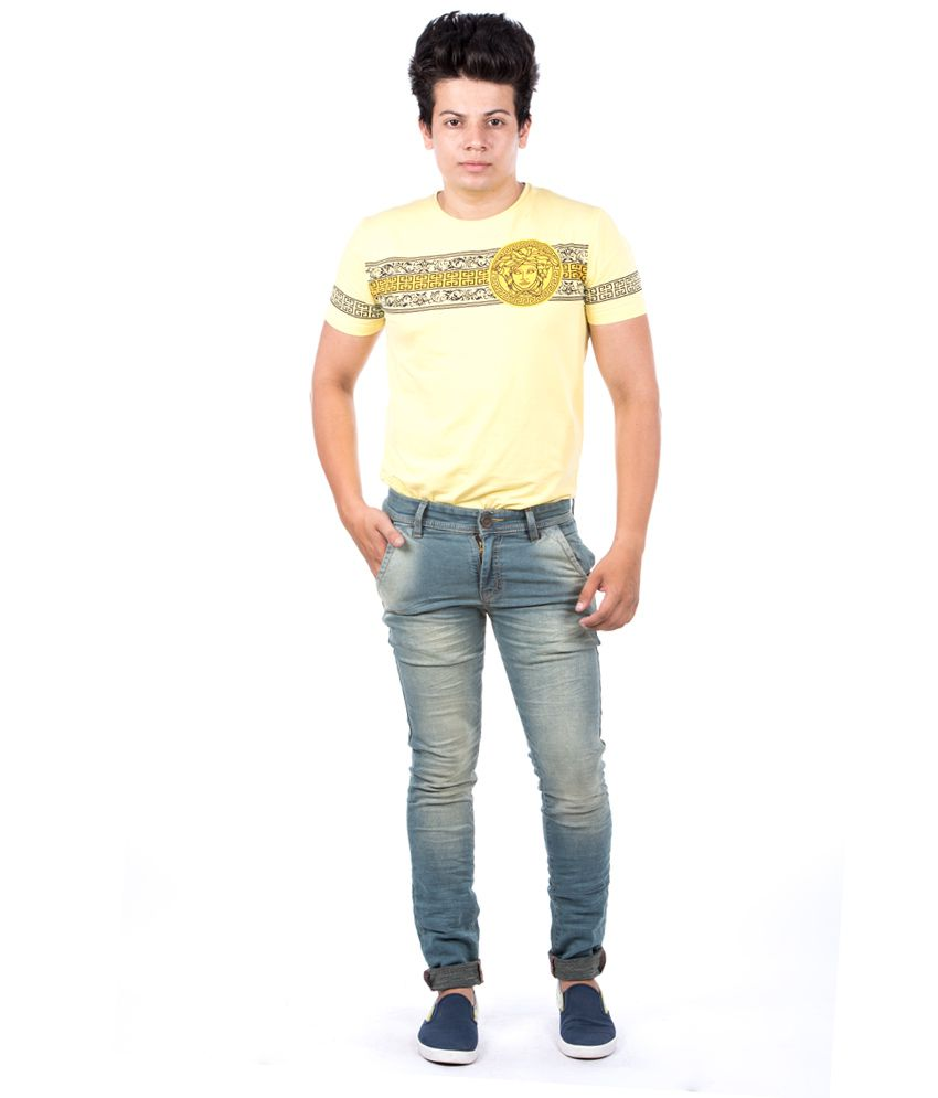 Jeanster Blue Cotton Blend Skinny Stylish Casual Jeans