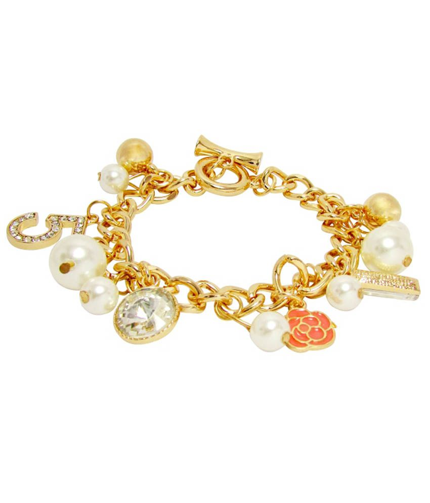 Jewelz Golden Alloy Bracelet