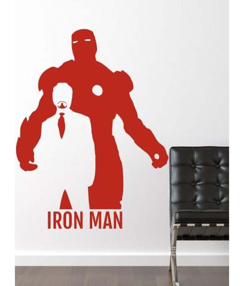 Wallmantra Iron Man Wall Decor Wall Sticker ... Part 9