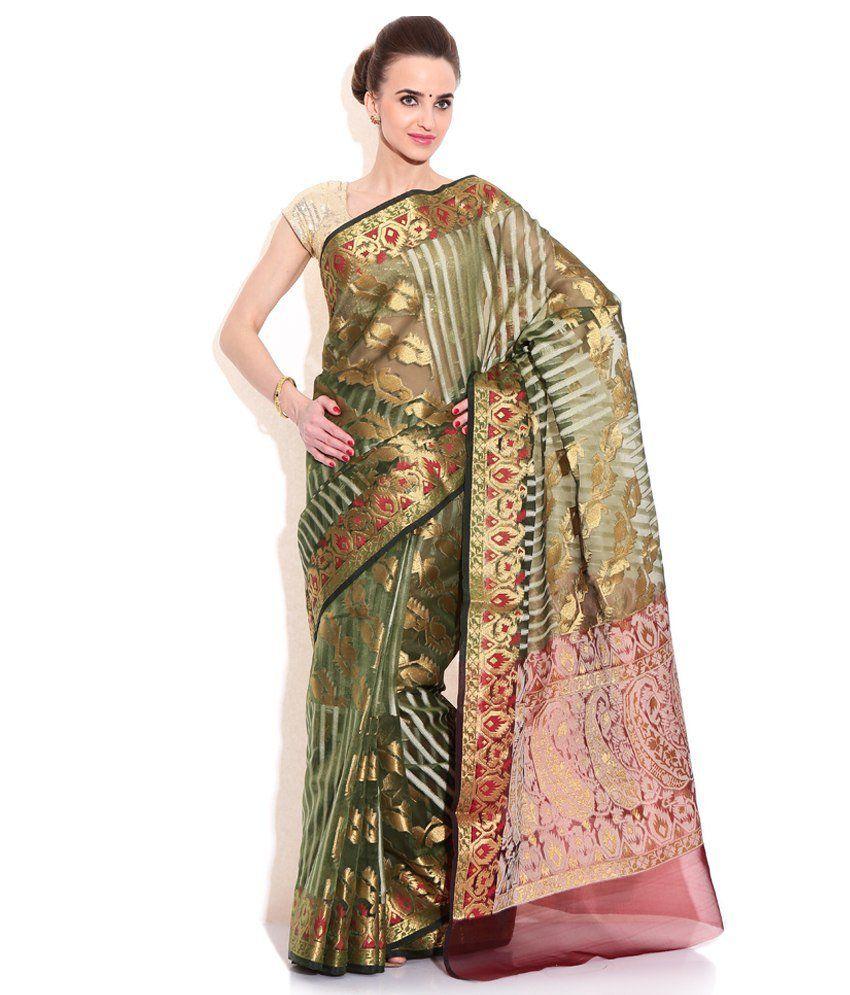 46c1cc761e Banarasi Sarees Multi Color Cotton Silk Saree - Buy Banarasi Sarees Multi  Color Cotton Silk Saree Online at Low Price - Snapdeal.com