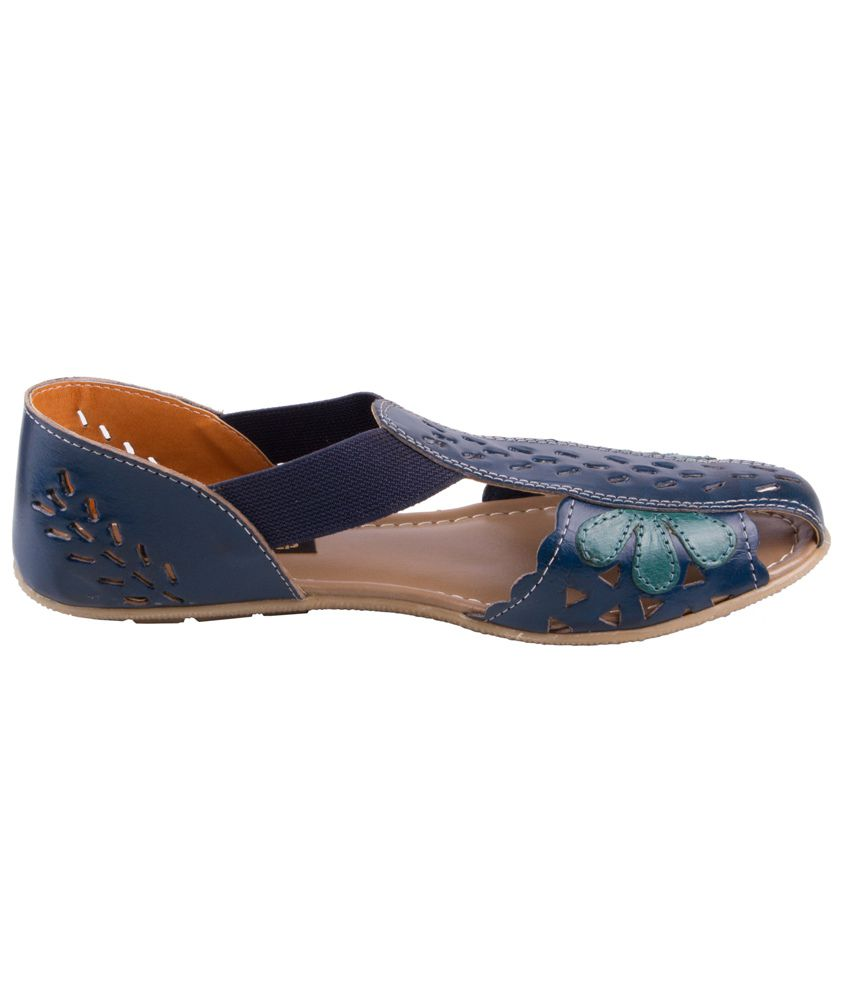 d9a217f10baa Global Step Blue Leather Back Strap Sandal Sandals Price in India ...