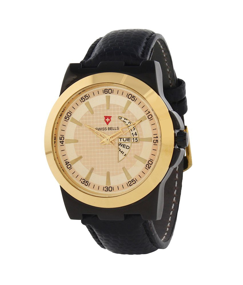 Svviss Bells Svviss Bells Golden Analog Watch