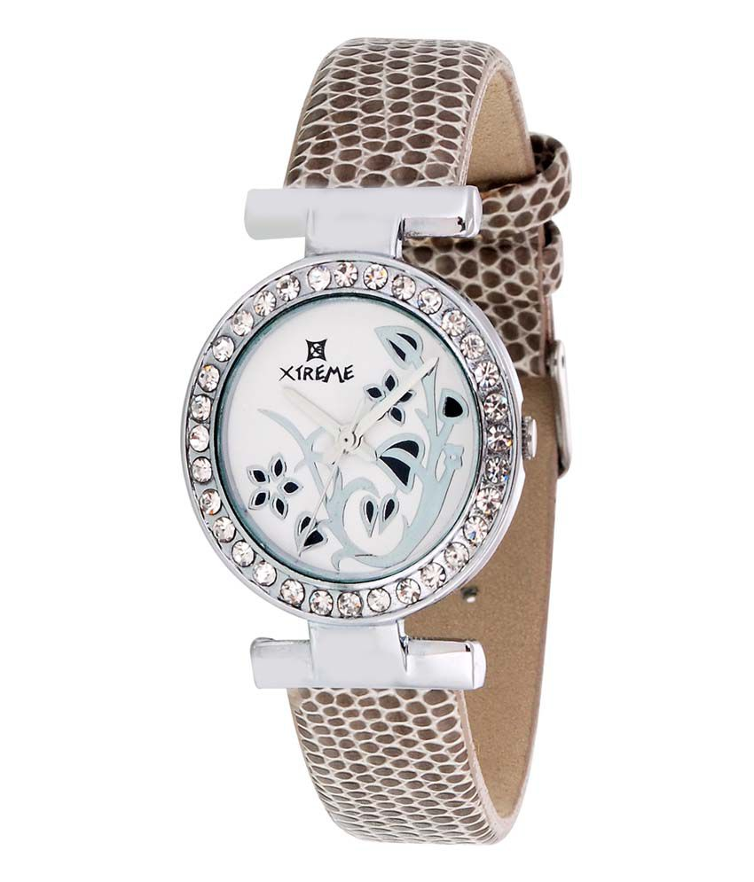 Xtreme White Leather Casual Quartz Watch