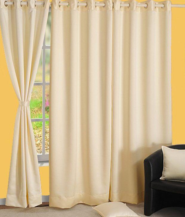 HOMEC Single Door Blackout Eyelet Curtain Solid Black
