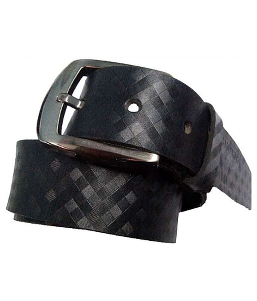 Longhorns Black Casual Single Belt For Men