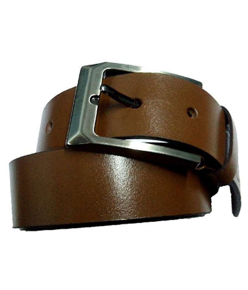 Longhorns Brown Casual Single Belt For Men
