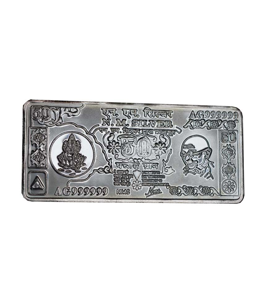 Nm 50 Gms Nm Silver Bar Buy Nm 50 Gms Nm Silver Bar Online In India