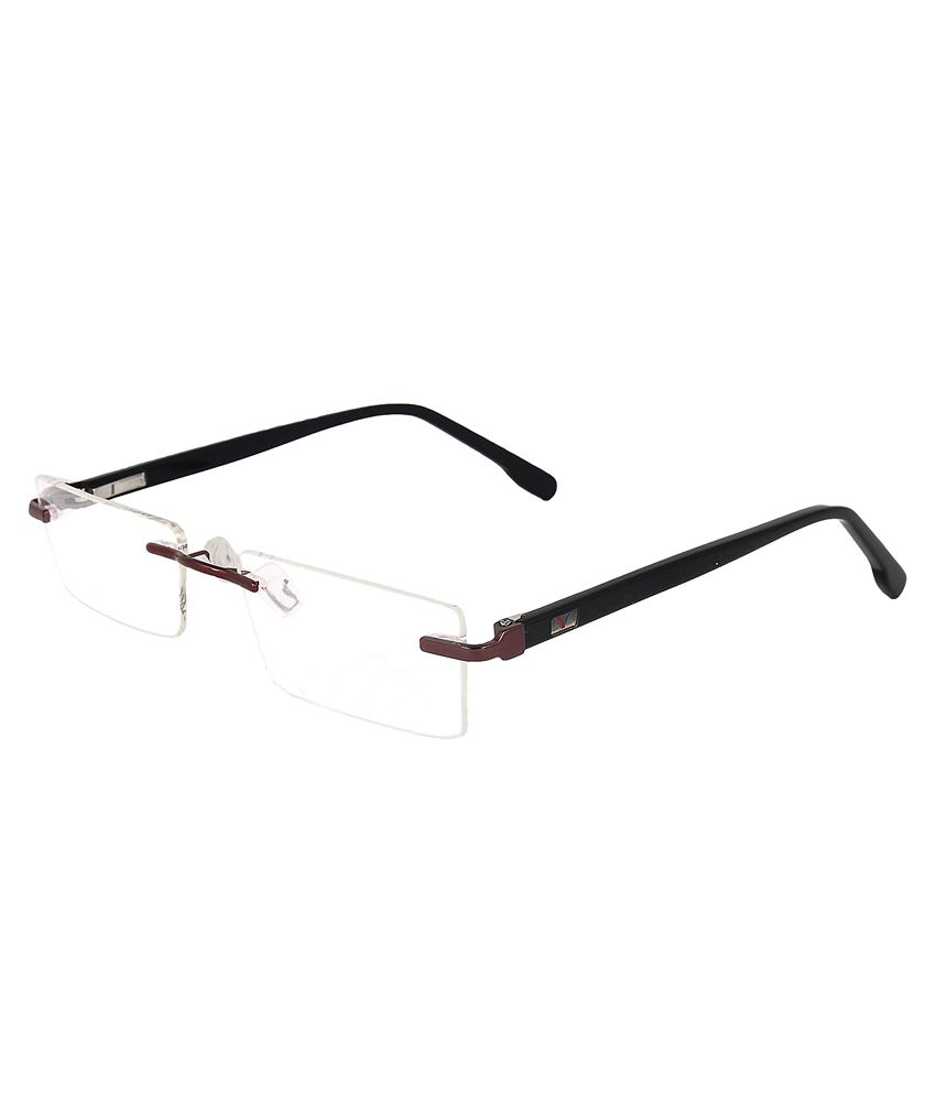 c8f6c596e25 Zyaden Black Rectangle Rimless Spectacle Frame - Buy Zyaden Black Rectangle  Rimless Spectacle Frame Online at Low Price - Snapdeal
