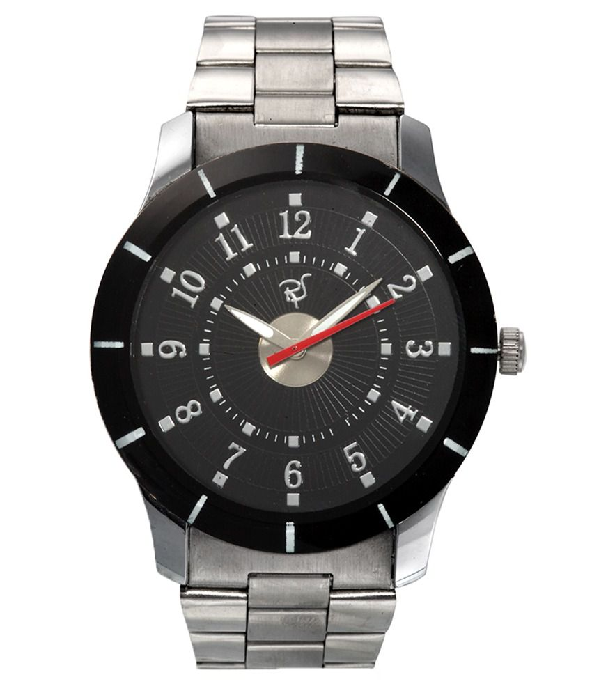 Rico Sordi Rico Sordi Black Round Analog Casual Watch