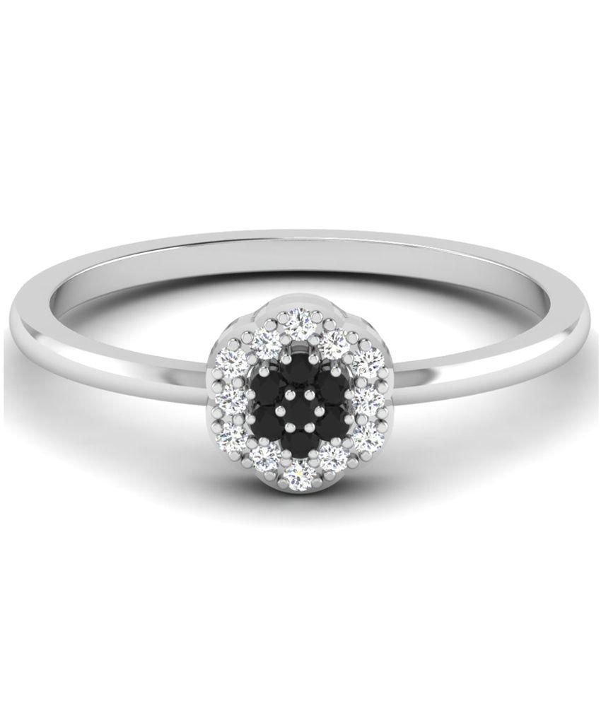 Sparkles 0.11 Ct Diamond & 18 Kt White Gold Ring for Women