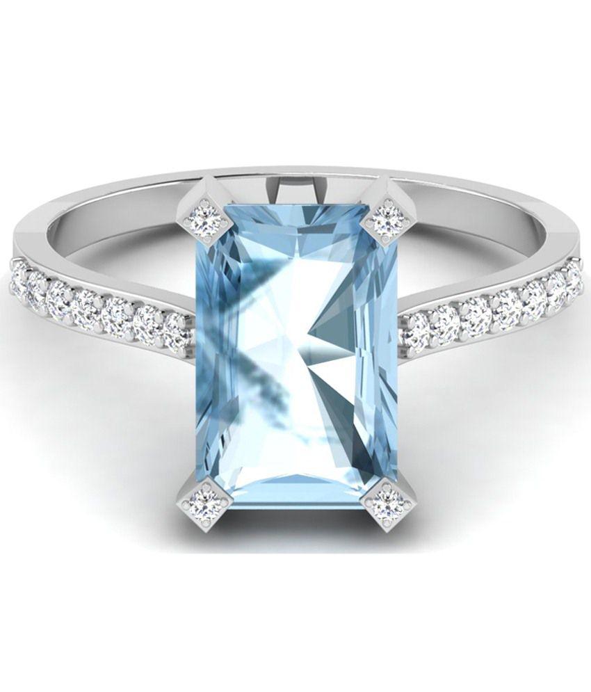 Sparkles 0.16 Ct Diamond & 18 Kt White Gold Ring for Women