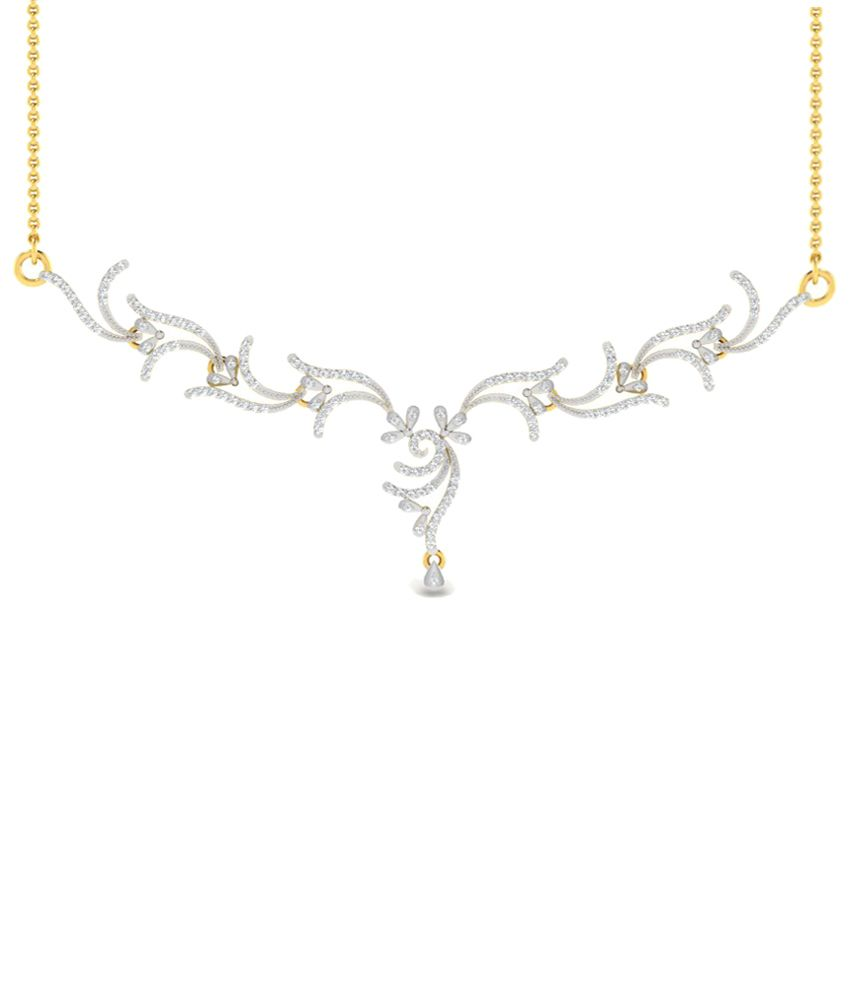 Sparkles 0.65 Ct Diamond & 18 Kt Gold Necklace for Women