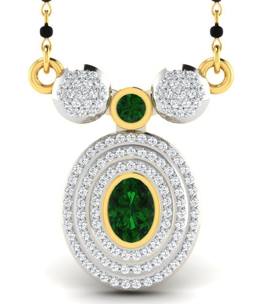 Sparkles 0.66 Ct Diamond & 18 Kt Gold Mangalsutra
