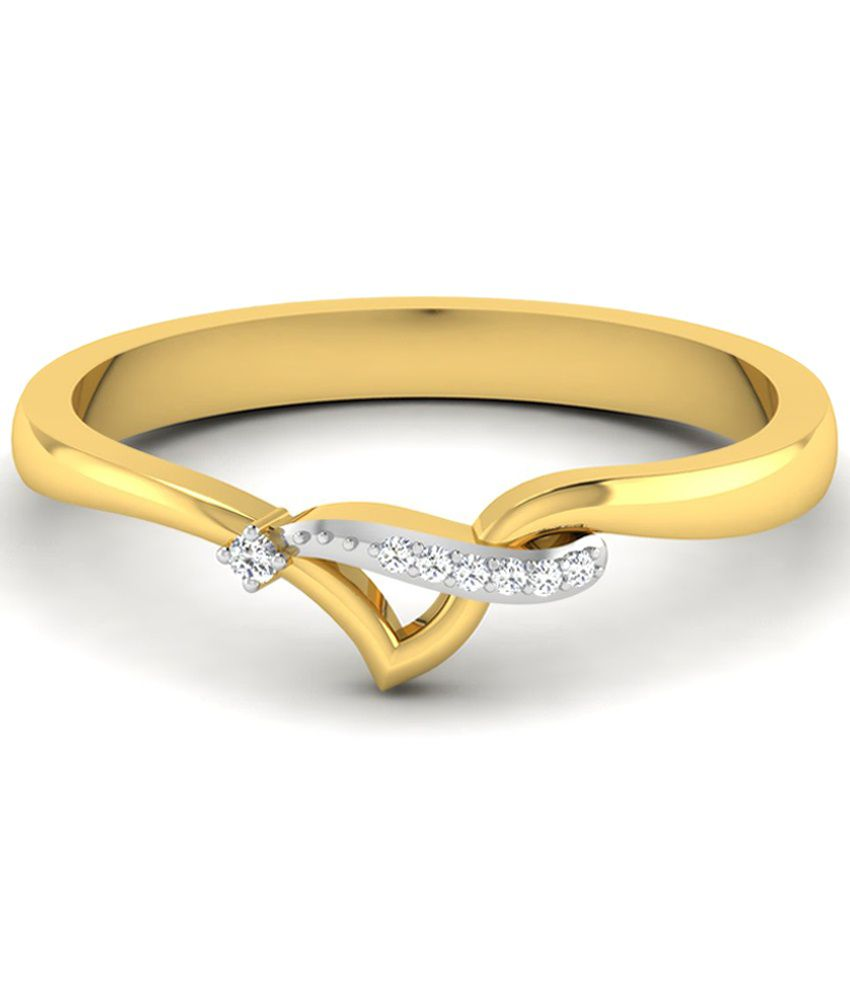 Sparkles Awesome 0.02 Ct Diamond & 18 Kt Gold Ring for Women
