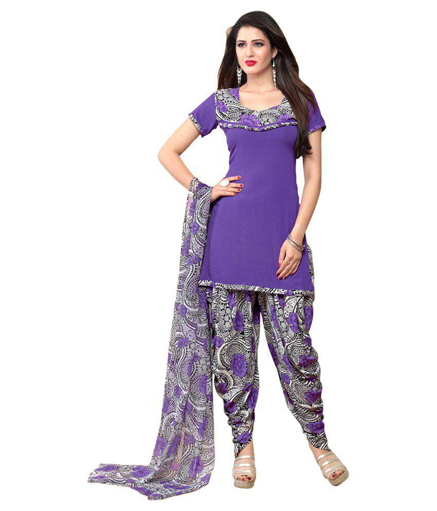 Jiya Multicolour Art Crepe Dress Material