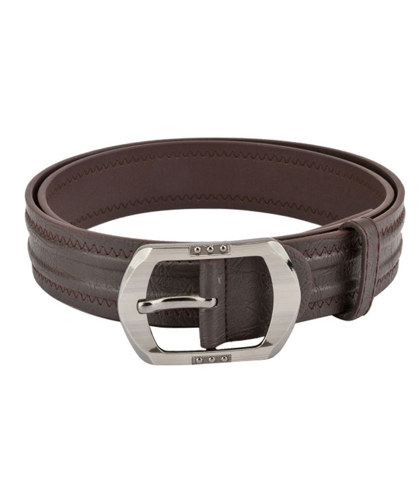 Mango People Brown Non Leather Casual Belts For Men
