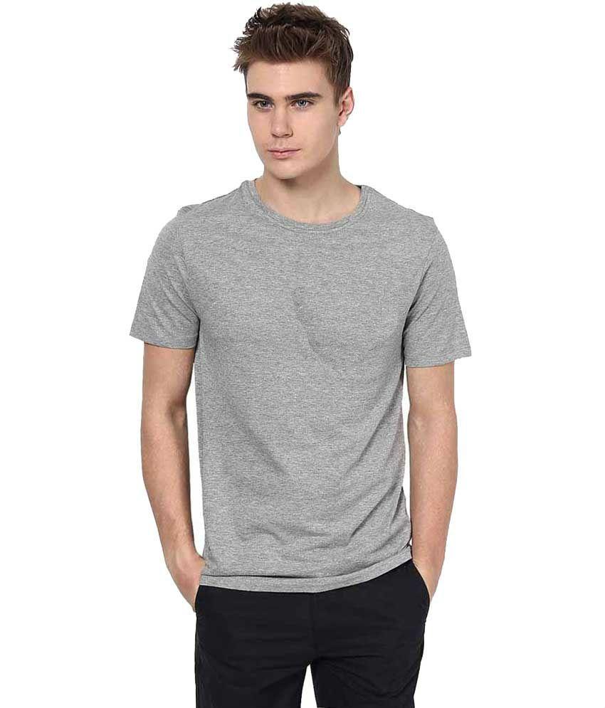 Renardfou Gray & Yellow Cotton Blend T Shirt Pack Of 2