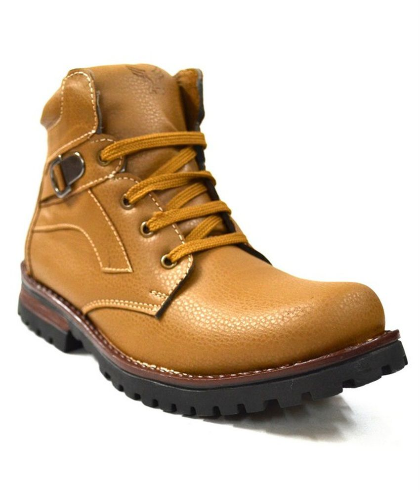 Zoot24 Tan Faux Leather Boot
