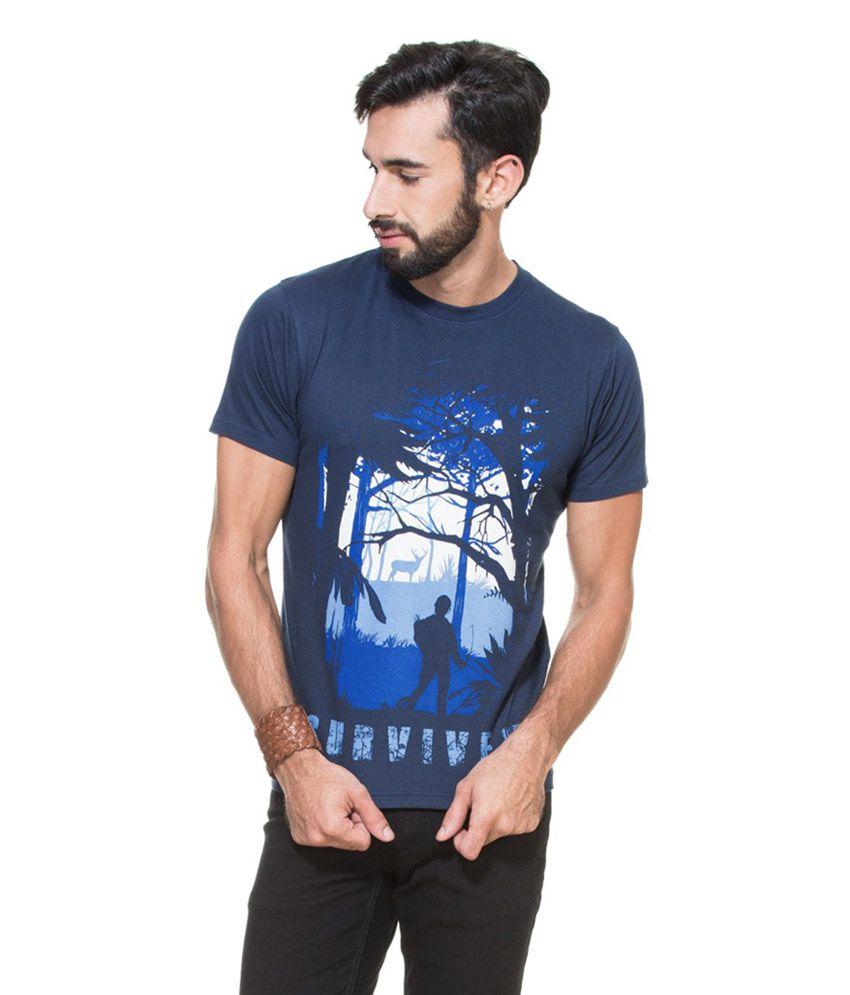 Zovi Last of Us Heritage Navy Graphic T-Shirt