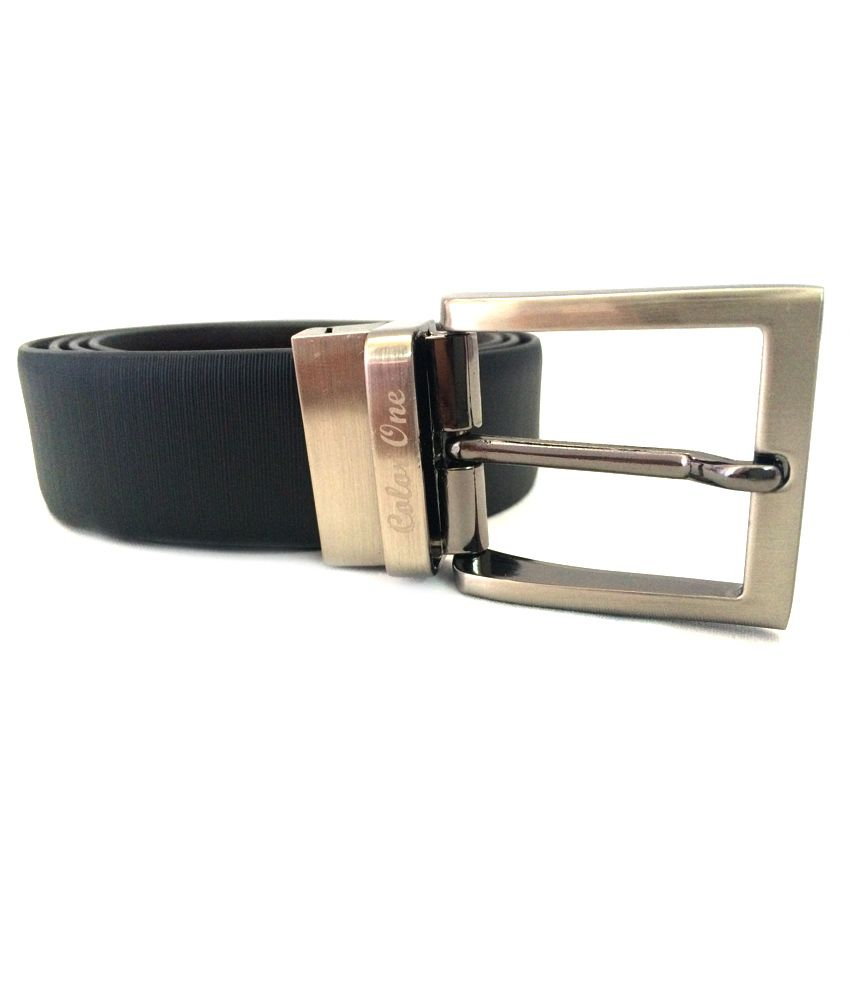 Color One Black N Brown Reversible Leather Belts