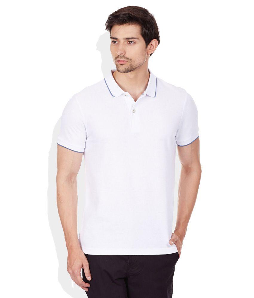Giordano White Polo Neck T Shirt Buy Giordano White Polo