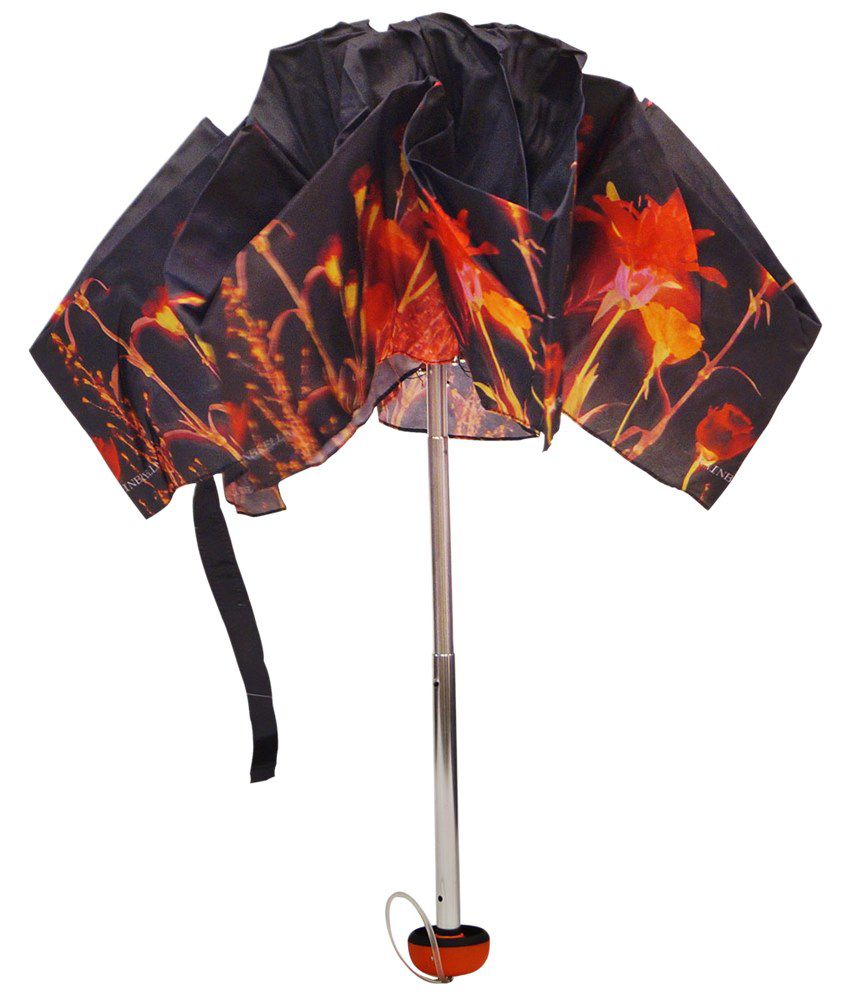 fef3807b71260 ... Mohendra Dutt & Sons Red-Black Printed Five Fold Umbrella With Cover