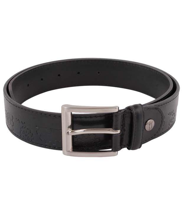 Orosilber Black Formal Leather Belt For Men